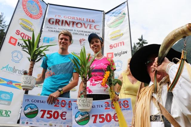 Nejc Kuhar in Mojca Koligar sta zmagovalca 19. izvedbe Teka na Grintovec