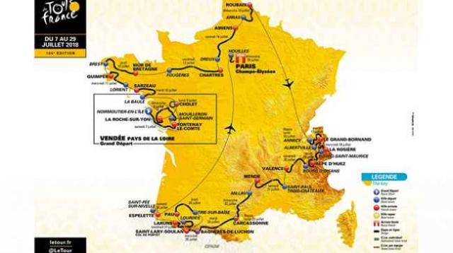Etape na dirki po Franciji