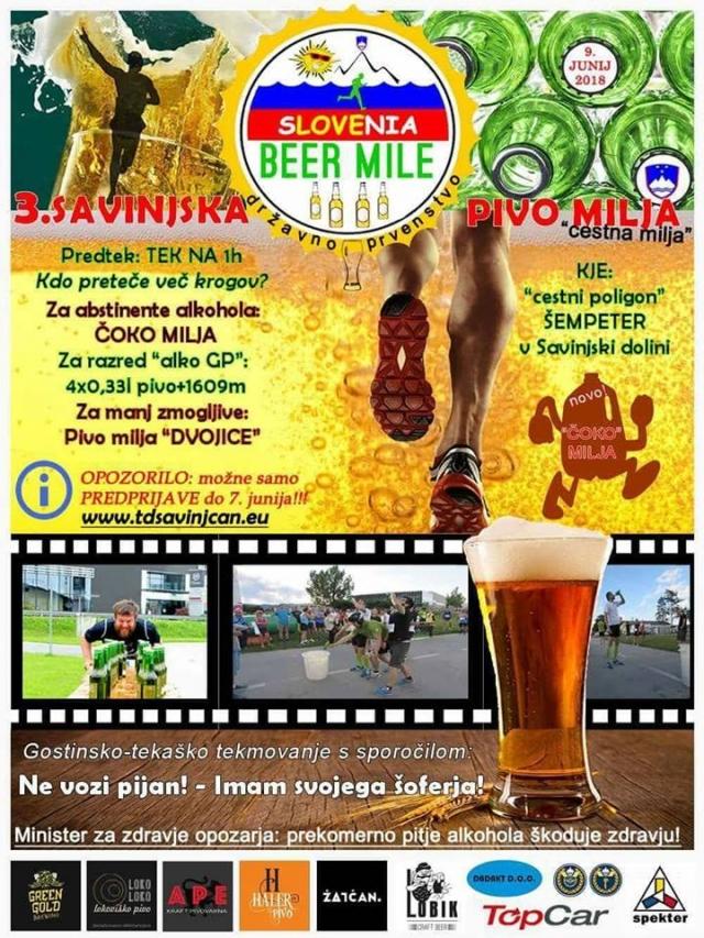 Pivo milja: V Savinjski bo teklo pivo, pa tudi teklo se bo