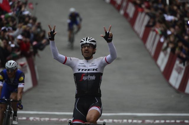 Fabian Cancellara med rekreativci v Italiji