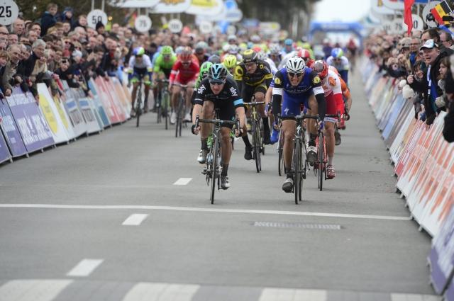 Marko Kump 11., Luka Mezgec 14. Prepir kar med etapo v Belgiji