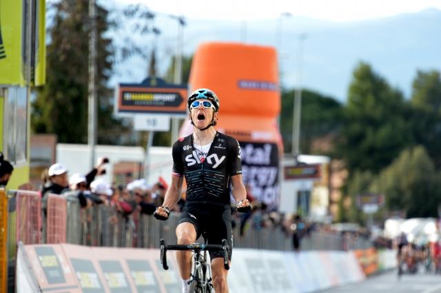Geraint Thomas do zmage v Italiji, sprint v Franciji