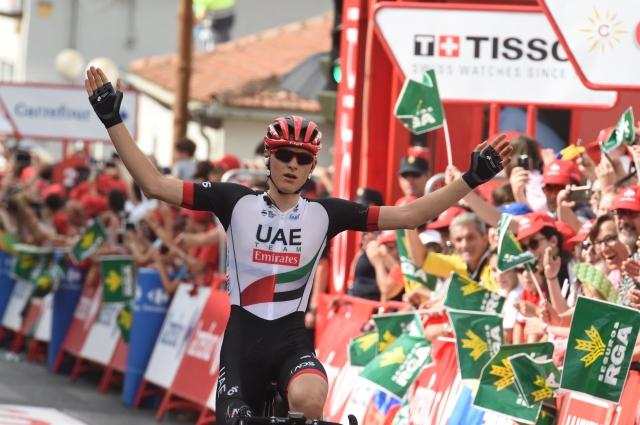 Matej Mohorič dobil etapo na dirki po Španiji!
