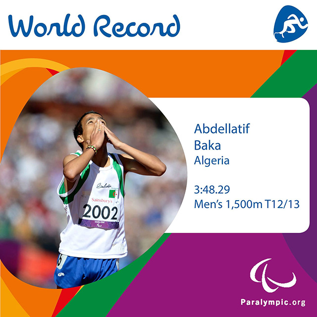 Abdellatif Baka je postavil nov svetovni rekod v teku na 1500 m