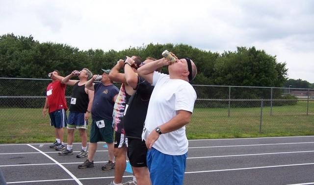 Kombinacija teka in piva preveč tudi za Armstronga