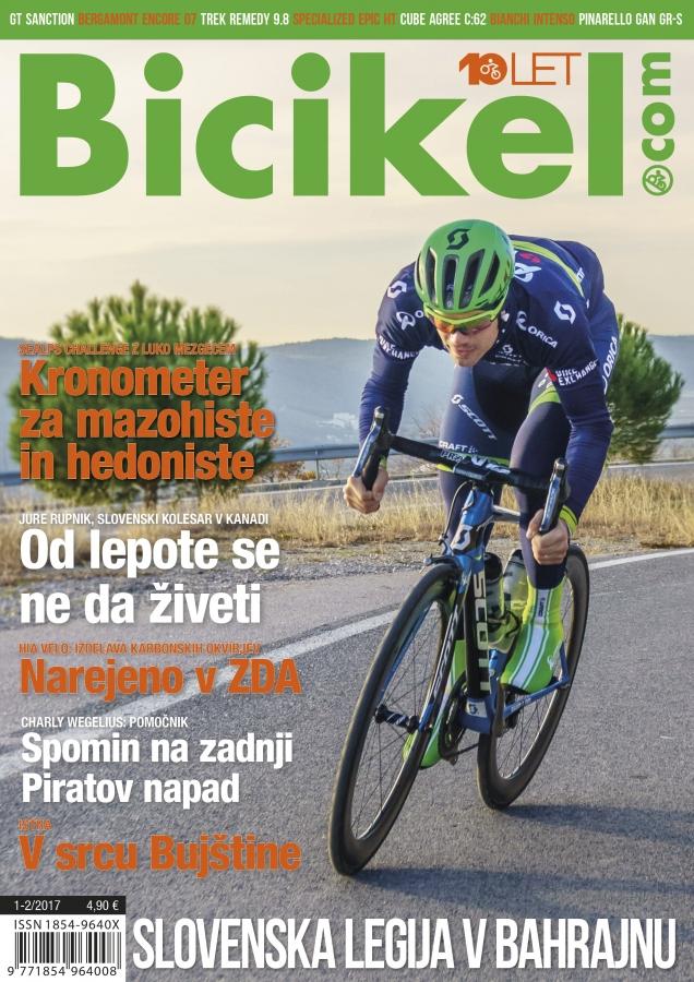 Trinajsterica med elito - revija Bicikel 01-02/2017