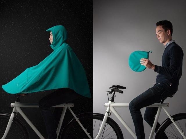 Boncho je kolesarski hibrid med šotorom in pončom, ki vas bo rešil pred dežjem