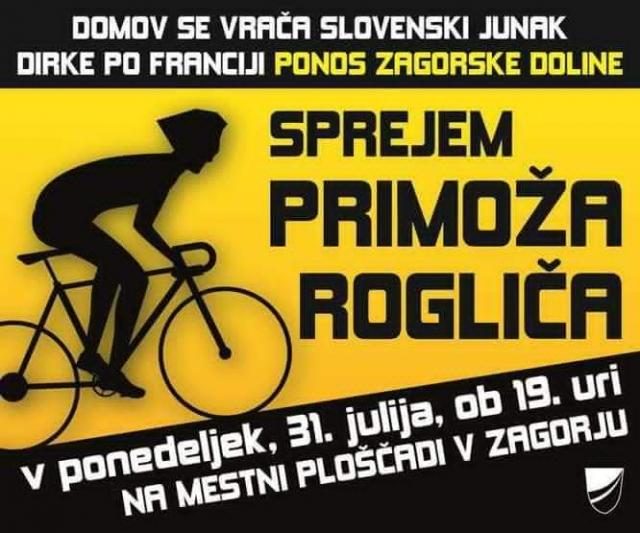 V ponedeljek sprejem za Primoža Rogliča!