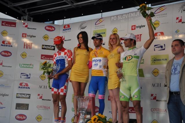 Kolesarji na dirki po Sloveniji