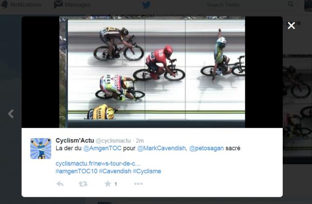 V ZDA kolesarji spisali pravi Hollywoodski scenarij ... dirka Saganu