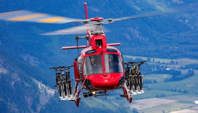 Nosilec za kolesa na helikopterju?