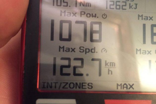 Na spustu do 122,7 km/h