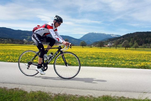 Tadej Valjavec na kolesu ekipe GreenEdge