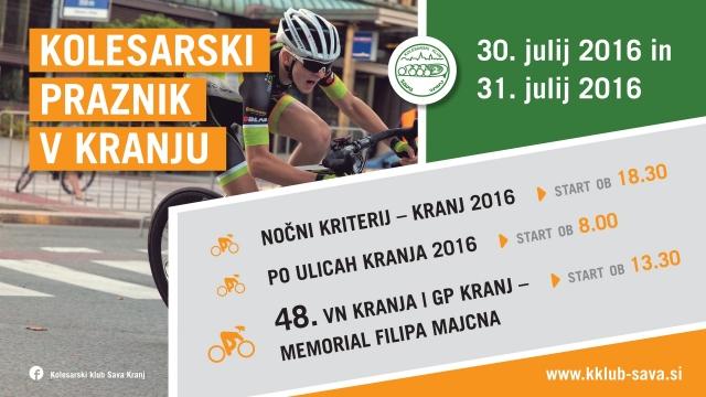 Konec tedna bo v Kranju spet kolesarsko obarvan - na vrsti je že 48. VN Kranja