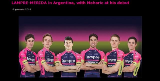 Lampre Merida predstavila ekipo za Argentino ... tudi oba Slovenca