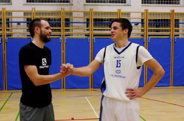 Luka Mezgec se je ob košarki spomnil na cestne začetke (video)