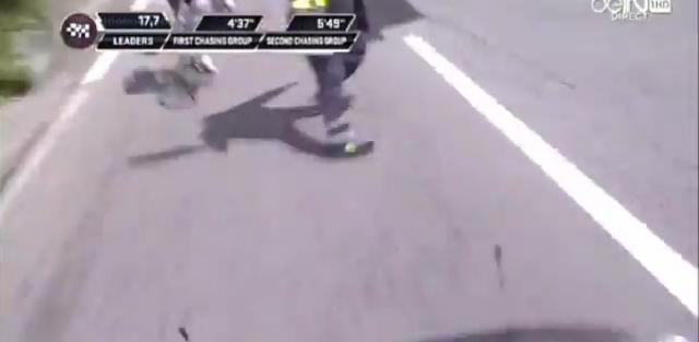 Huda nesreča med 14. etapo dirke po Italiji