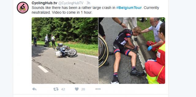 V Belgiji motorista povzročila hudo nesrečo