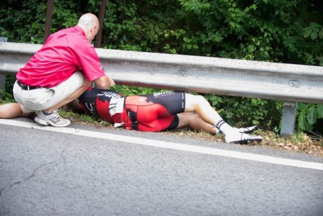 Taylor Phinney na državnem prvenstvu padel in zlomil nogo