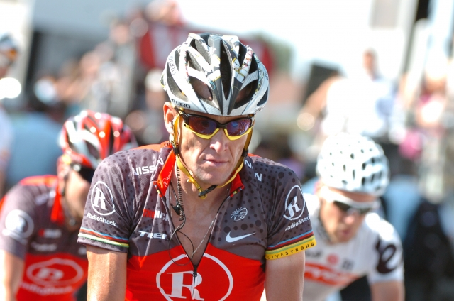 Armstrong tudi v triatlonu do zmage