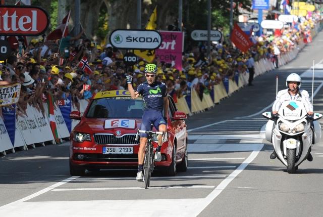 Rui Costa zmagal, Alberto Contador napadal in padel! (foto)
