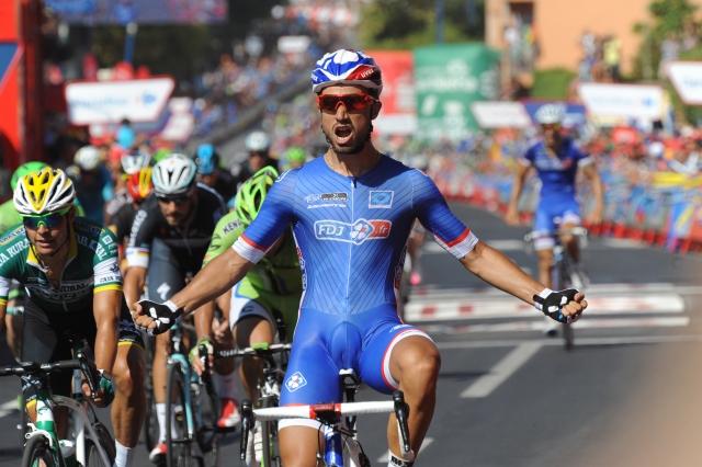 Nacer Bouhanni dobil sprint v Španiji, Mugerli in Marin zmagal pri sosedih