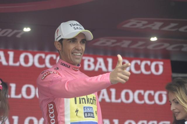 Alberto Contador izkoristil delo Astane, Landi etapa
