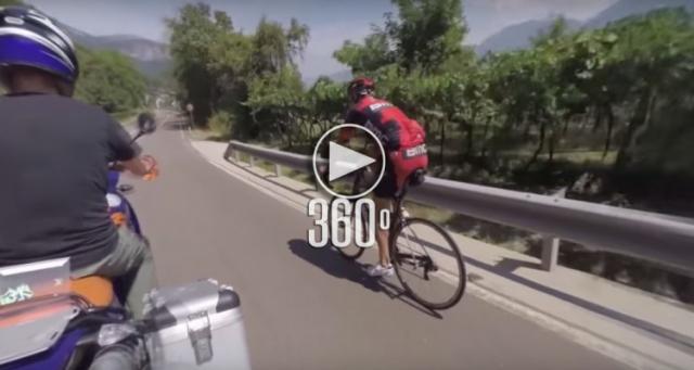 Manuel Quinziato na treningu za motorjem iz vseh smeri! (VIDEO)
