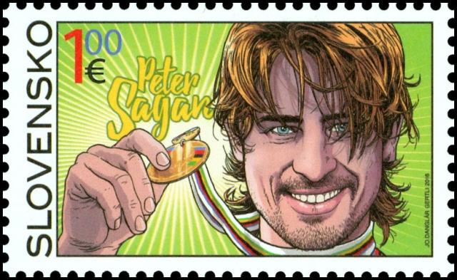 Peter Sagan zdaj tudi na znamki