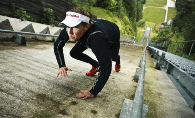 Red Bullov šprint na planiško velikanko. Salomonov Man of the day za najbolj spočitega tekmovalca.