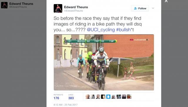 Sagan, Van Avermaet in Vanmarcke kršili pravilo