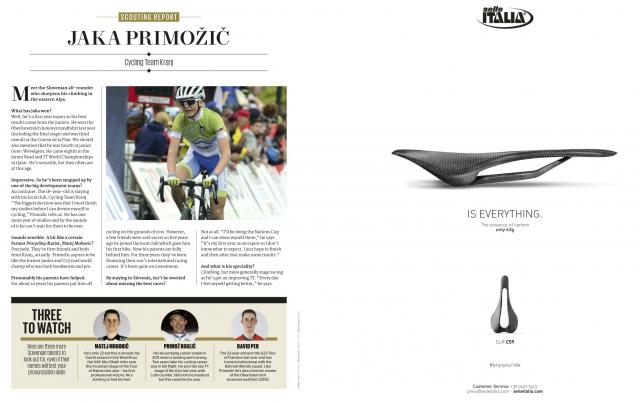 Jaka Primožič v reviji Procycling