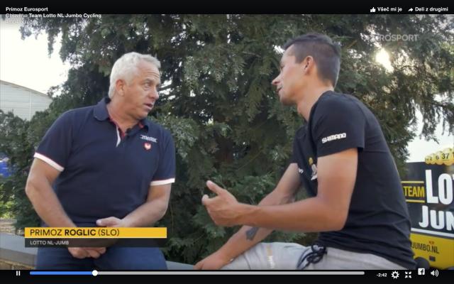 Primož Roglič sreča Grega LeMonda (VIDEO)