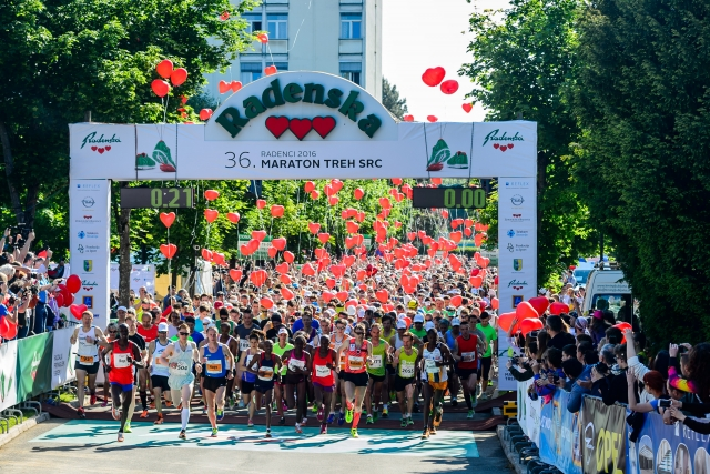 36. Maraton treh src - Tekmovali sami s seboj, zmagali vsi