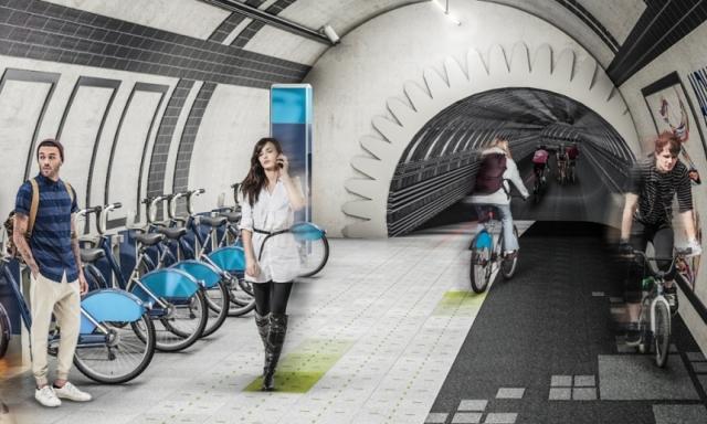 Zmagovalni načrt za kolesarske poti pod Londonom (video)