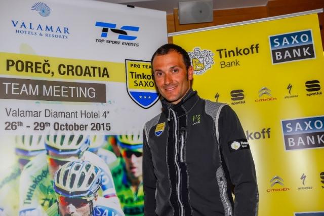 Ivan Basso ostaja v Tinkoff Saxu ... v novi vlogi