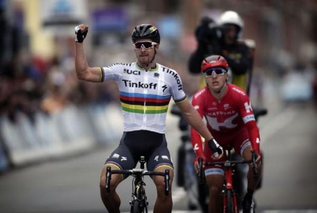 Peter Sagan prvič letos, Fabian Cancellara v krčih, Luka Mezgec 12.