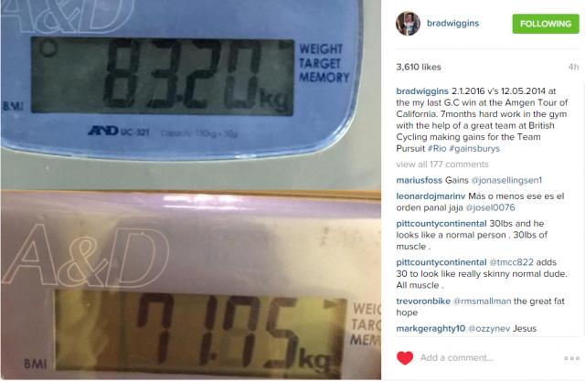 Bradley Wiggins in njegova teža ... vse za velodrom
