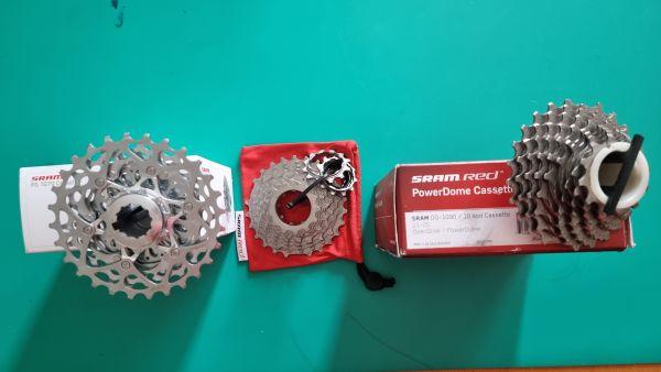 Zadnji verižnik kaseta - SRAM OG 1090 11-25T ter FORCE 11-28 T nov