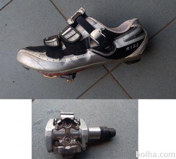 Kolesarski čevlji Shimano R132 SPD +  SL s pedali Shimano