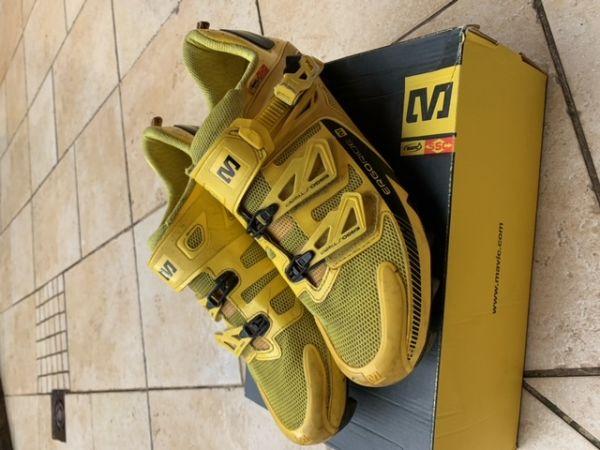 Kolesarske čevlji Mavic Fury MTB,številka 44 2/3,uk10,rumene barve