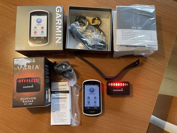 Garmin Edge 1030, Varia Radar RTL500, Bleutooth merilec srčnega utripa