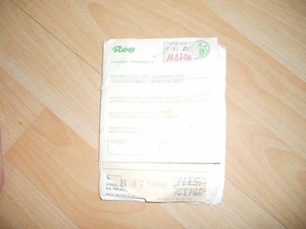 Dirkalno cestno kolo specijalka ROG SPRINT ne voženo ,original račun