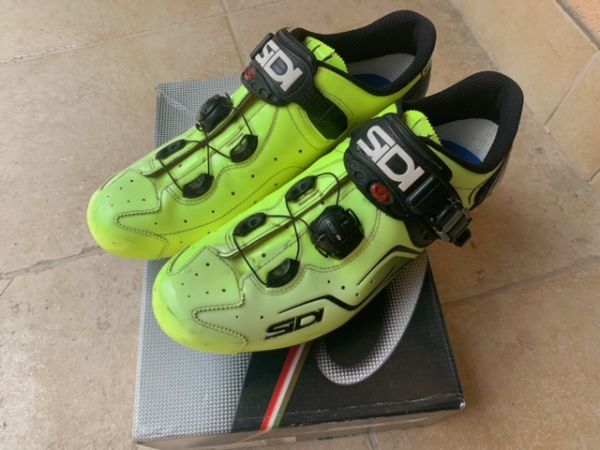 SIDI ;YELLOW FLUO kolesarski cestni čevlji št.45