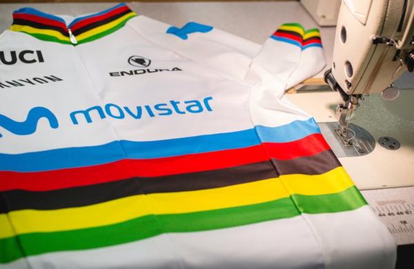 Alejandro Valverde predstavil dres svetovnega prvaka