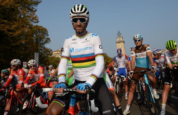 Alejandro Valverde za konec ugnal Gerainta Thomasa