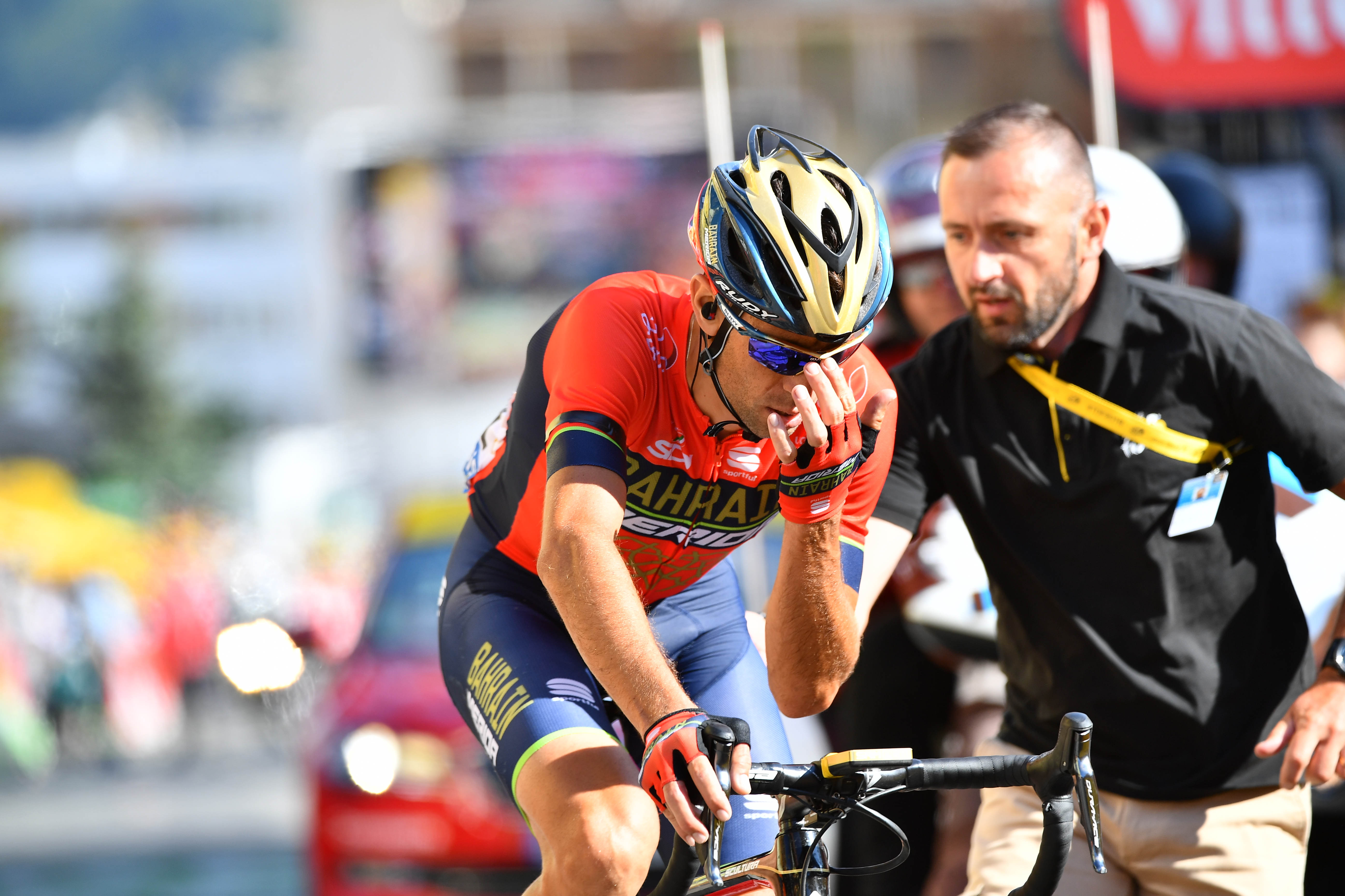 Vincenzo Nibali: Triurno zaslišanje glede padca na Touru