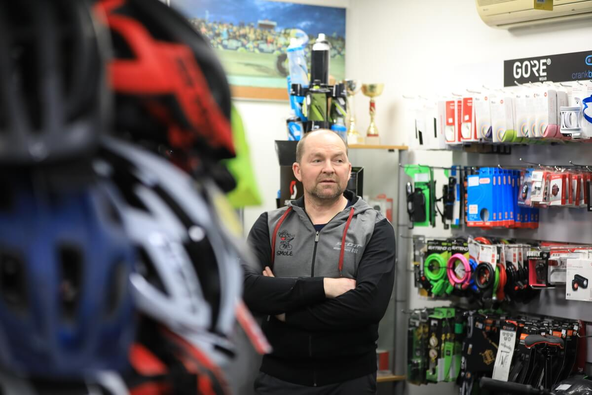 Servis in trgovina koles Smole: Na obisku pri olimpijcu