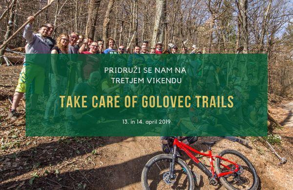 Akcija Take Care of Your Trails tudi na Golovcu – Sobota 13. April