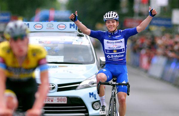 Najmlajši kolesar med elito v Belgiji ugnal vse
